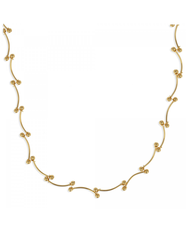 Vergoldet Halskette 45cm