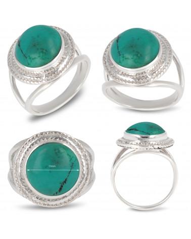 Geschenkidee Frau-Feine Steine-Ring-Türkis-Silber 925-000-Frau