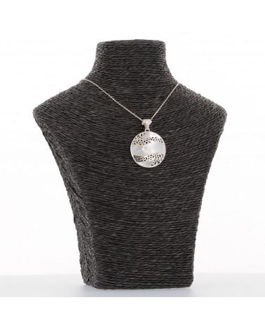 personalisiertes Geschenk Frau-Sterling Silber-Runde-Frau