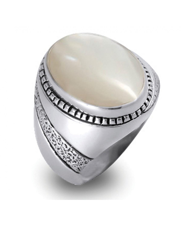 925 Sterlingsilber Perlmutt Weiss Ringe