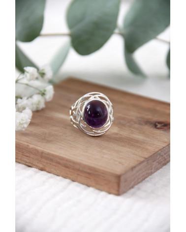 Geschenkidee Frau-Feine Steine-Ring-lapis Lazuli-Sterling Silber-Frau