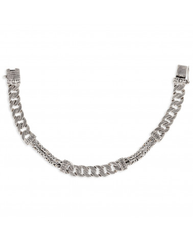 Idea regalo per lui pezzo unico Bracciale doppia fila Sterling Silver Donna Uomo