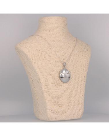 Regalo Creación original Colgante madre perla Plata oval mujer ovalada