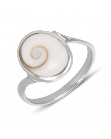 Ringe Abalone Perlmutt-3 Blumen-Sterling Silber-Frau