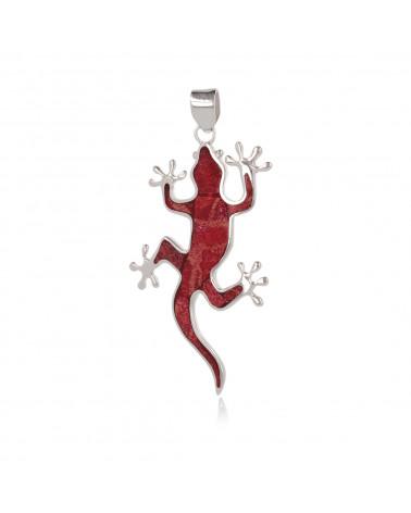 Idea de regalo Joyería Colgante de plata esterlina y facetado Piedra granate Color rojo Forma Libélula Mujer