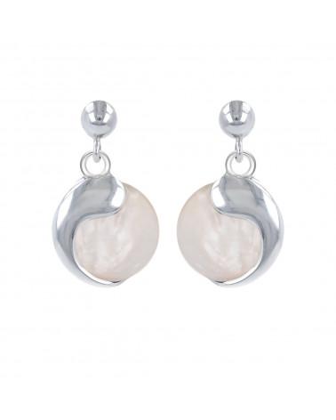 925 Sterling Silver Coral Flower Earrings