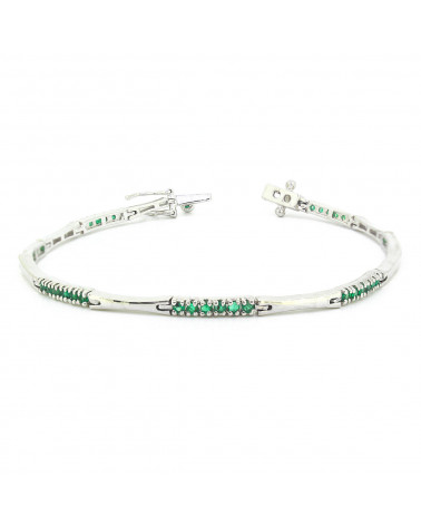 925 Sterling Silver Emerald Bracelet