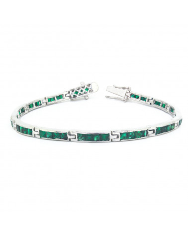 Bracciale Smeraldo Argento Massiccio 925