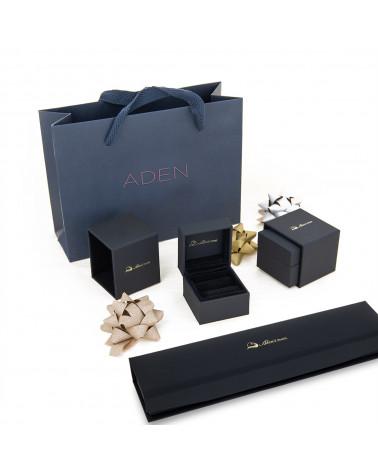 Collar Colgante de Oro 14K Rubi y Diamantes Cadena Oro incluida