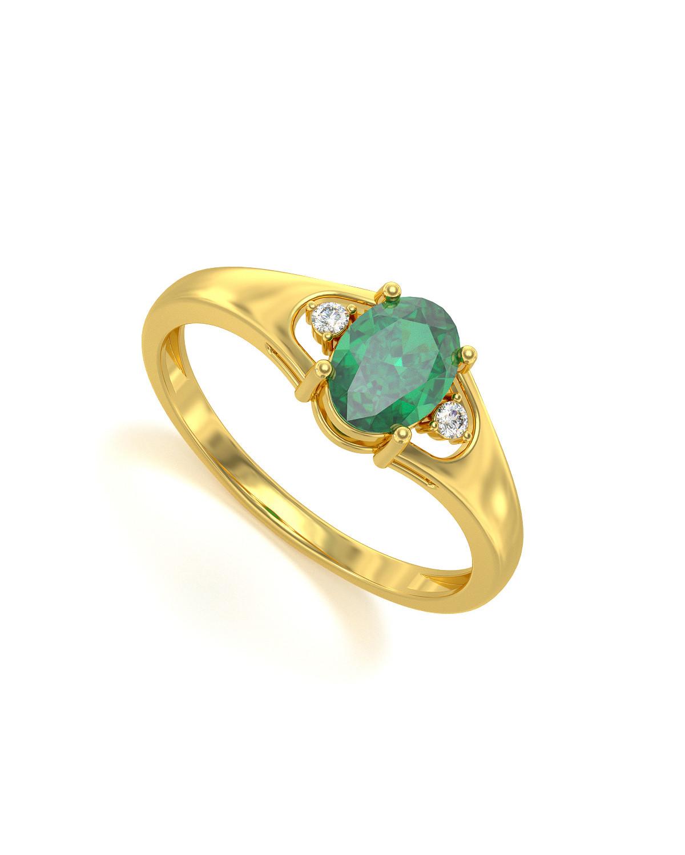 Anillo de Oro Esmeraldas y diamantes 1.382grs