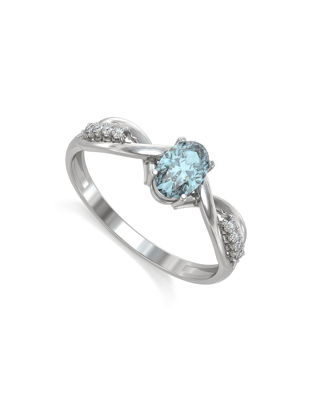 925 Sterlingsilber Aquamarine Ovale Form Ringe