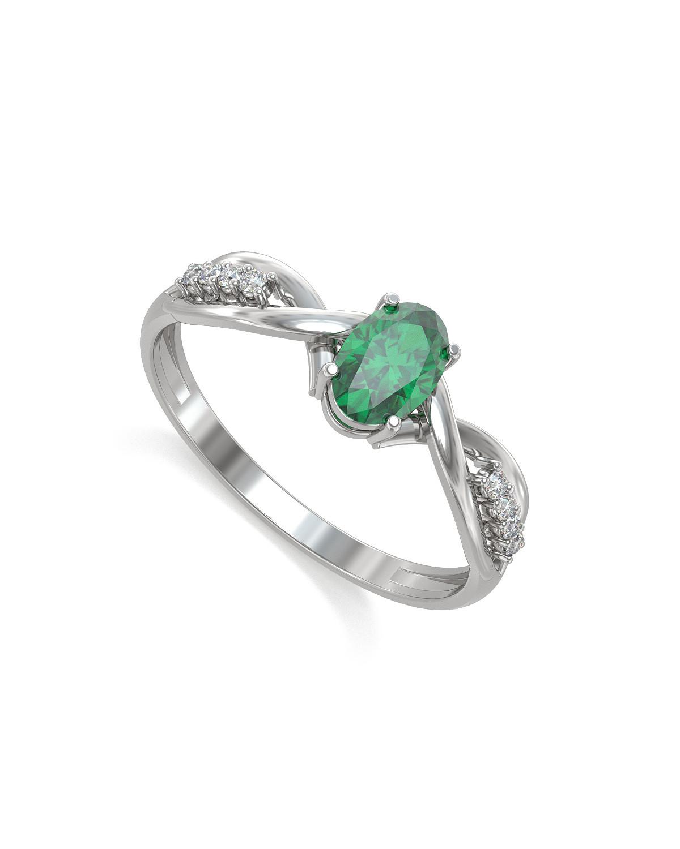 925 Sterlingsilber Smaragd Ovale Form Ringe