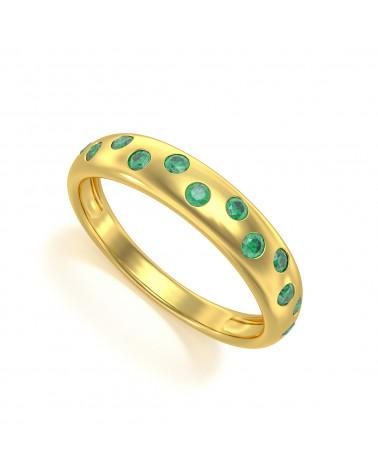 Anelli Oro Smeraldo