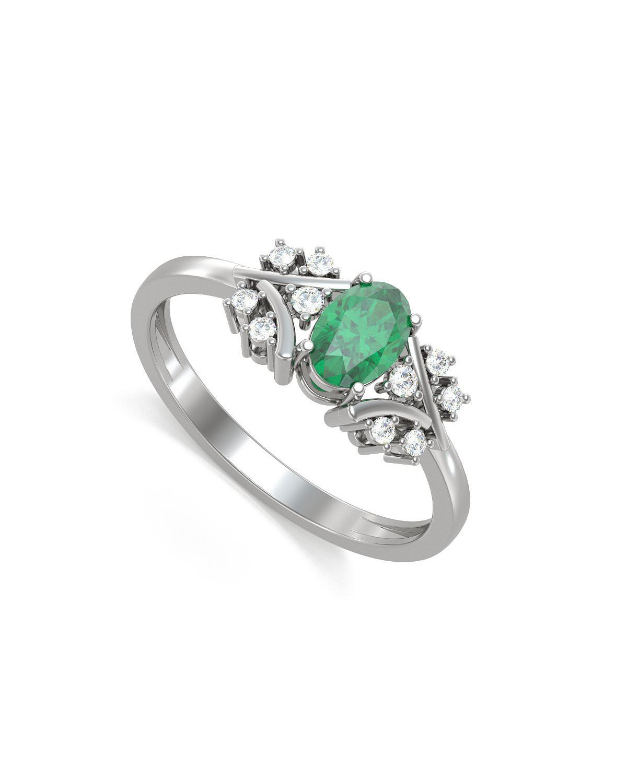 Anelli Oro Smeraldo diamanti 1.556grs