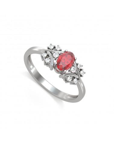 Anelli Oro Rubino diamanti 1.556grs ADEN - 1
