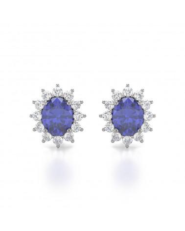Gold Tanzanit Diamanten Ohrringe ADEN - 1