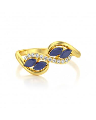 Anelli Oro Zaffiro diamanti 1.546grs ADEN - 3