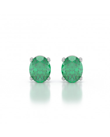 925 Silber Smaragd Ohrringe ADEN - 1