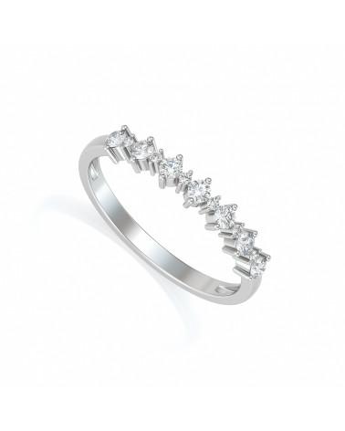 Anillo de Oro Diamantes ADEN - 1