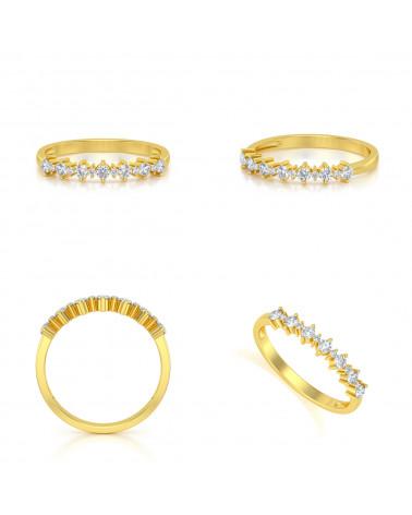 Anillo de Oro Diamantes ADEN - 2