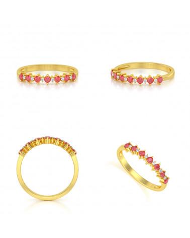 Anillo de Oro Rubi y diamantes ADEN - 2