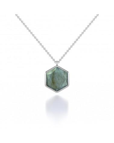 Vergoldet 925 Sterlingsilber Facettierte Amazonit Rund Form Halskette ADEN - 1