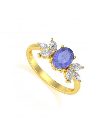 Anelli Oro Tanzanite diamanti ADEN - 1