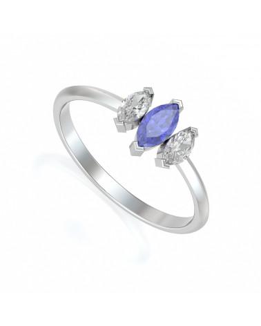 Gold Tanzanit Diamanten Ringe ADEN - 1
