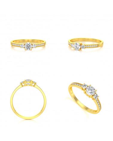 Anillo de Oro Diamantes 1.7grs ADEN - 2