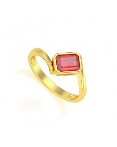 Gold Ruby Ring ADEN - 1