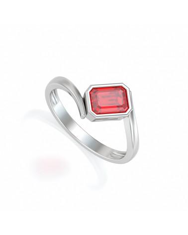 925 Silber Rubin Ringe ADEN - 1