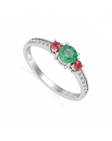 Gold Smaragd Diamanten Ringe ADEN - 1