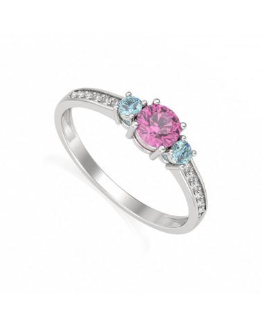 925 Silber Tanzanit Diamanten Ringe ADEN - 1