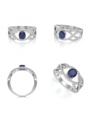 Anelli Oro Zaffiro diamanti ADEN - 2