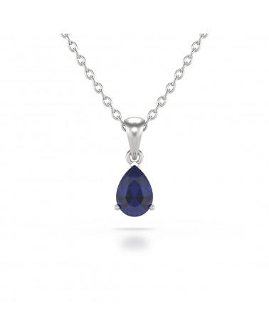 925 Silber Saphir Halsketten Anhanger Silberkette enthalten ADEN - 1