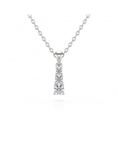 Colgante Pendente in Oro 14K Diamante Catena Oro inclusa ADEN - 1