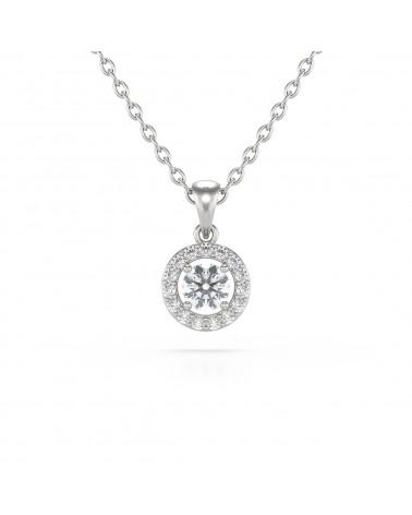 Collar Colgante de Oro 14K Diamantes Cadena Oro incluida ADEN - 1